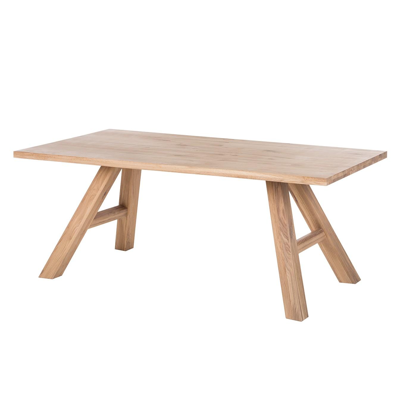 Table à manger SeliWOOD - Chêne blanc huilé - 180 x 100 cm, Ars Natura
