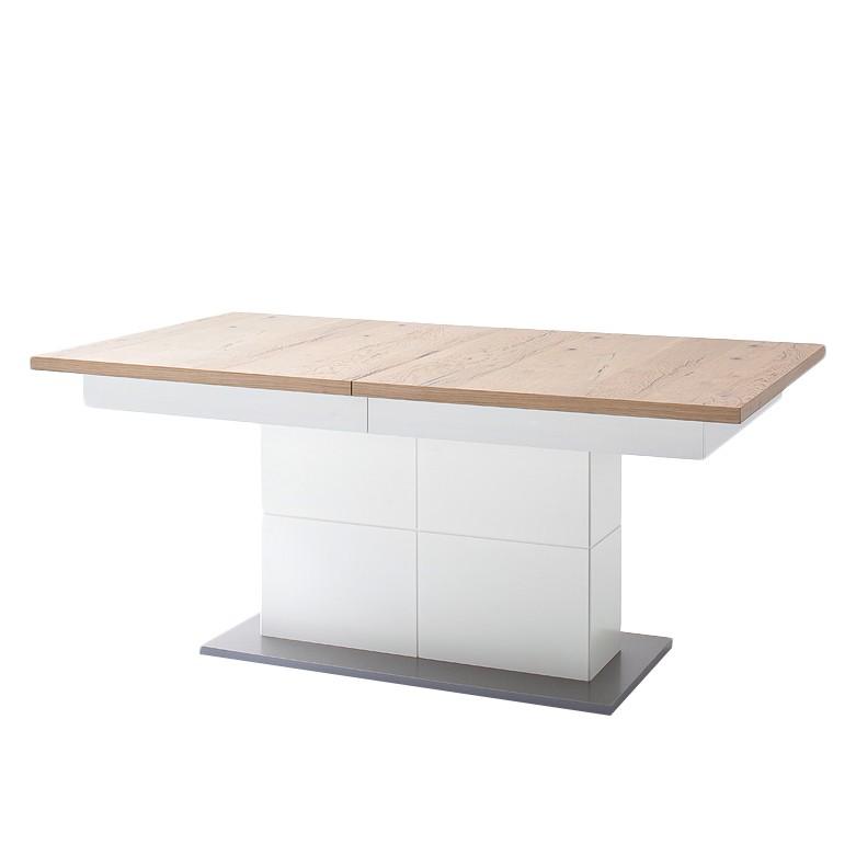 Table à manger Serrata (avec rallonge) - Chêne sauvage / Blanc mat, Fredriks