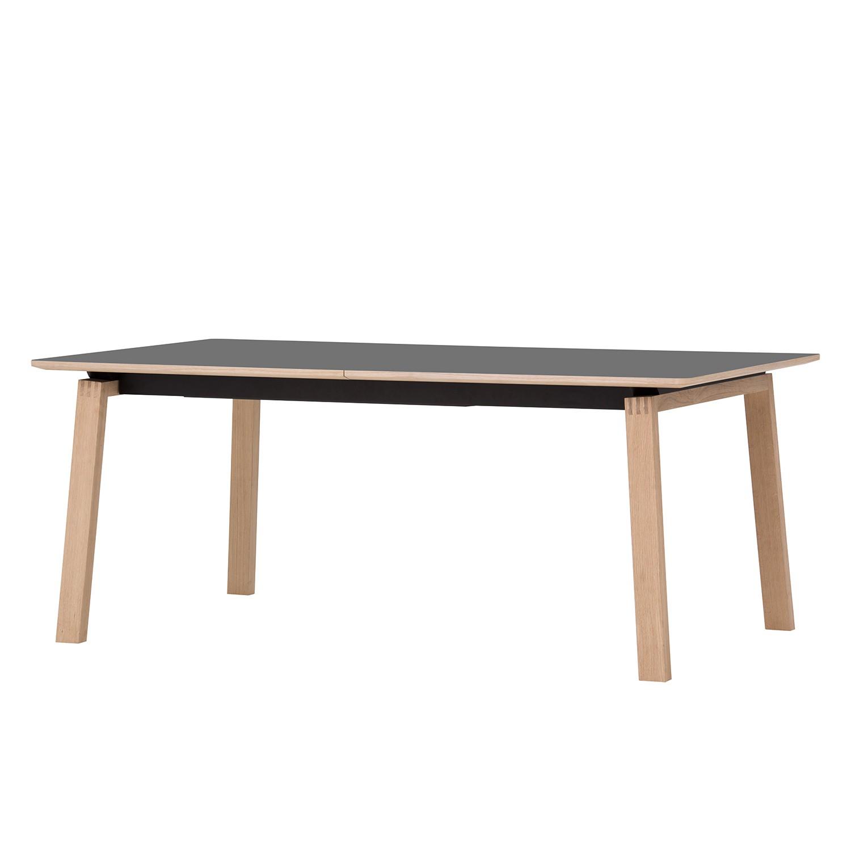 Table à manger Stig II - Anthracite / Chêne - 180 x 100 cm, Studio Copenhagen