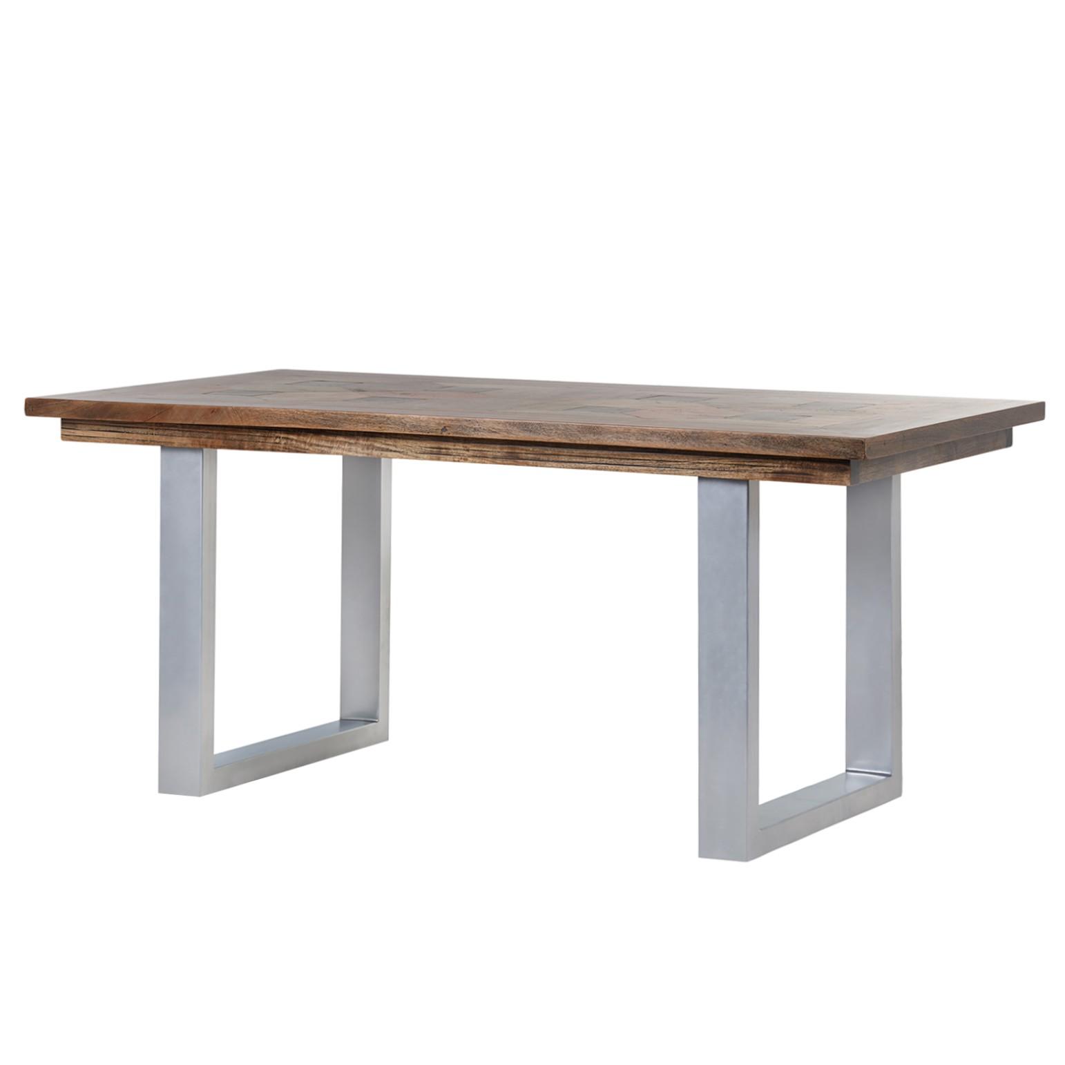 Table à manger Camibar III - Manguier massif / Métal - Manguier / Argenté, Ars Natura