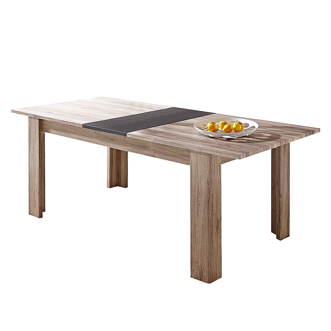 Table à manger Theta (extractible) - Imitation chêne de San Remo foncé, Naturoo