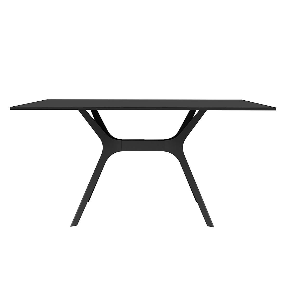 Table à manger Vela II - Noir - 120 x 80 cm, loftscape