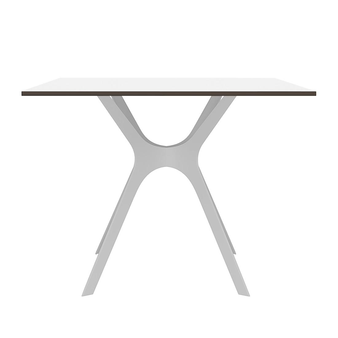 Home 24 - Table à manger vela ii - blanc - 70 x 70 cm, loftscape