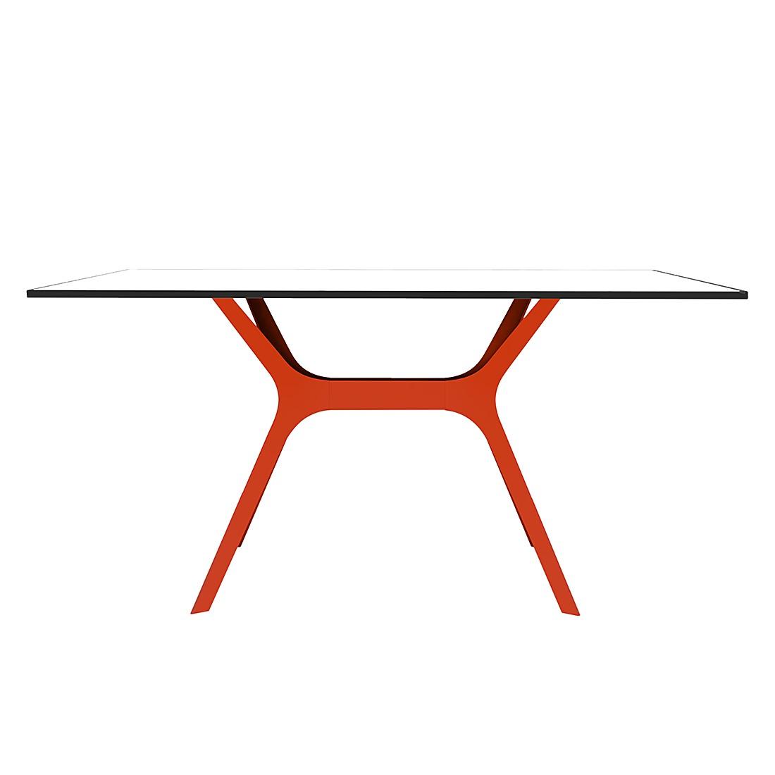 Eettafel Vela II - Wit/rood - 120x80cm, loftscape