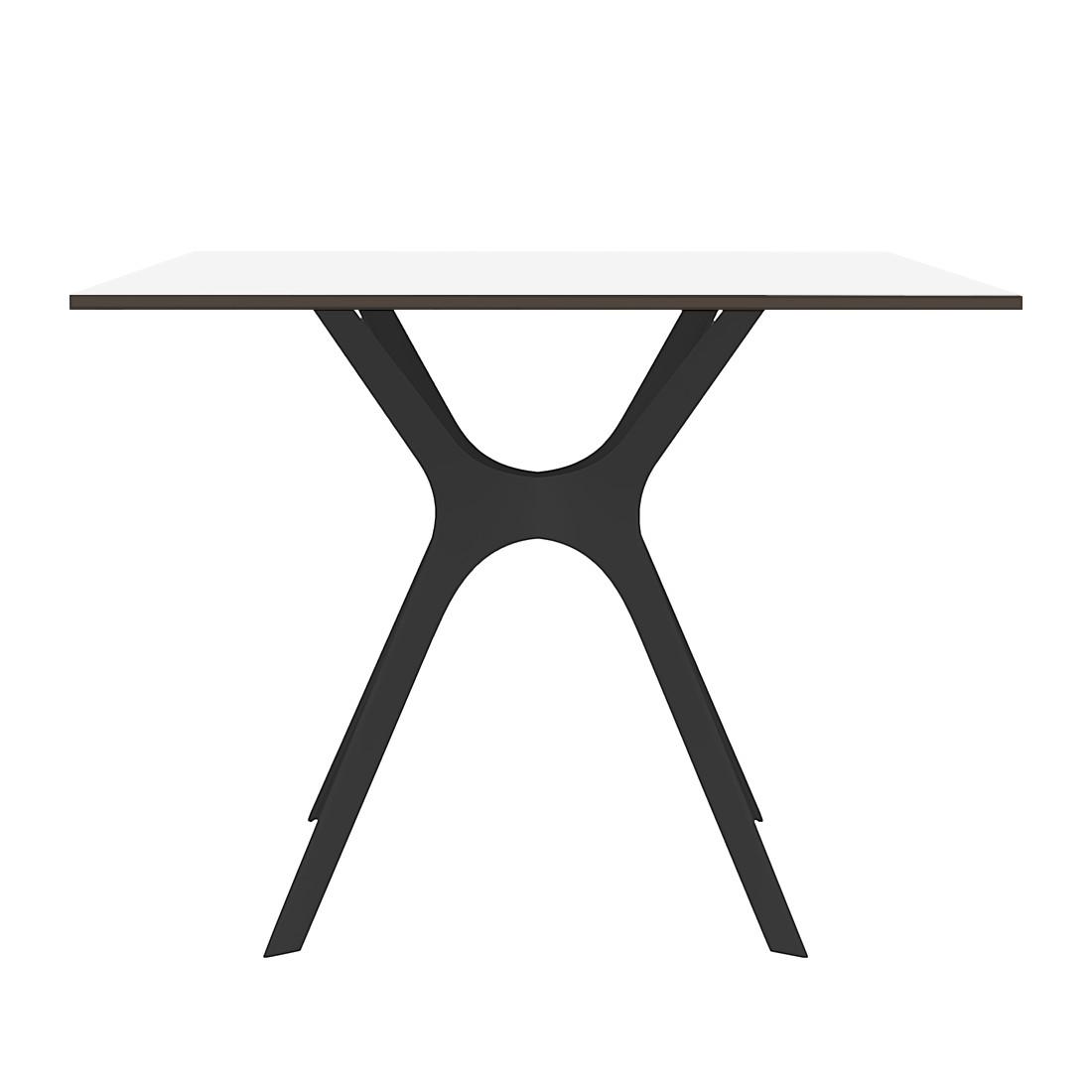 Eettafel Vela II - Wit/zwart - 90x90cm, loftscape