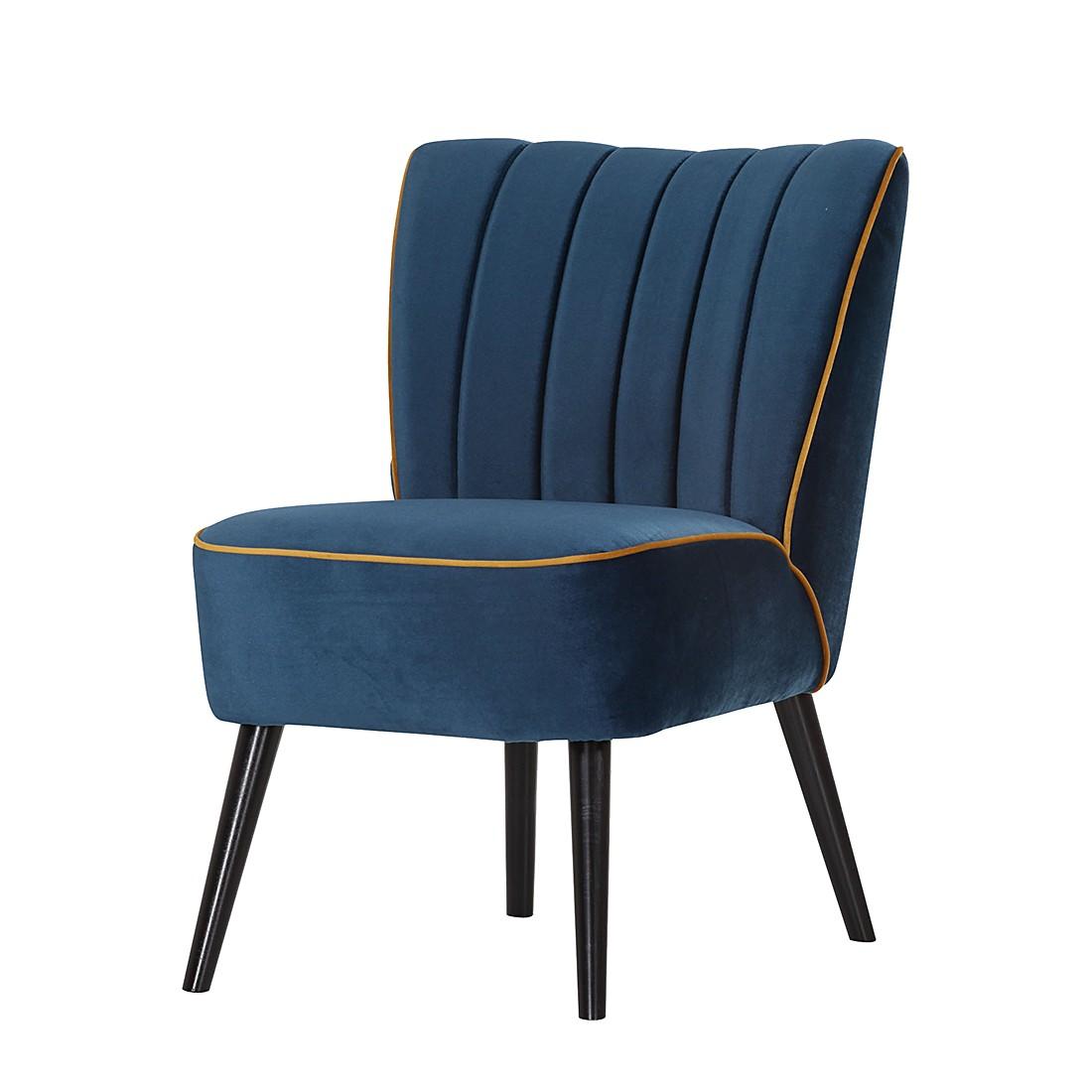 Fauteuil Melina - Microfibre - Bleu - Bleu, Studio Monroe