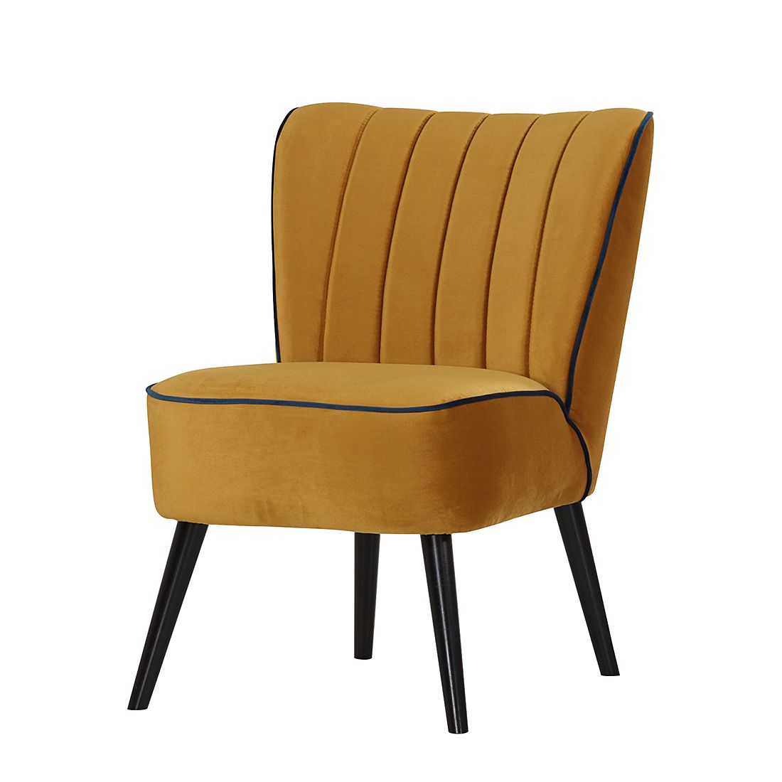 fauteuil melina microfibre bleu jaune moutarde studio monroe par studio monroe chez home24 fr. Black Bedroom Furniture Sets. Home Design Ideas