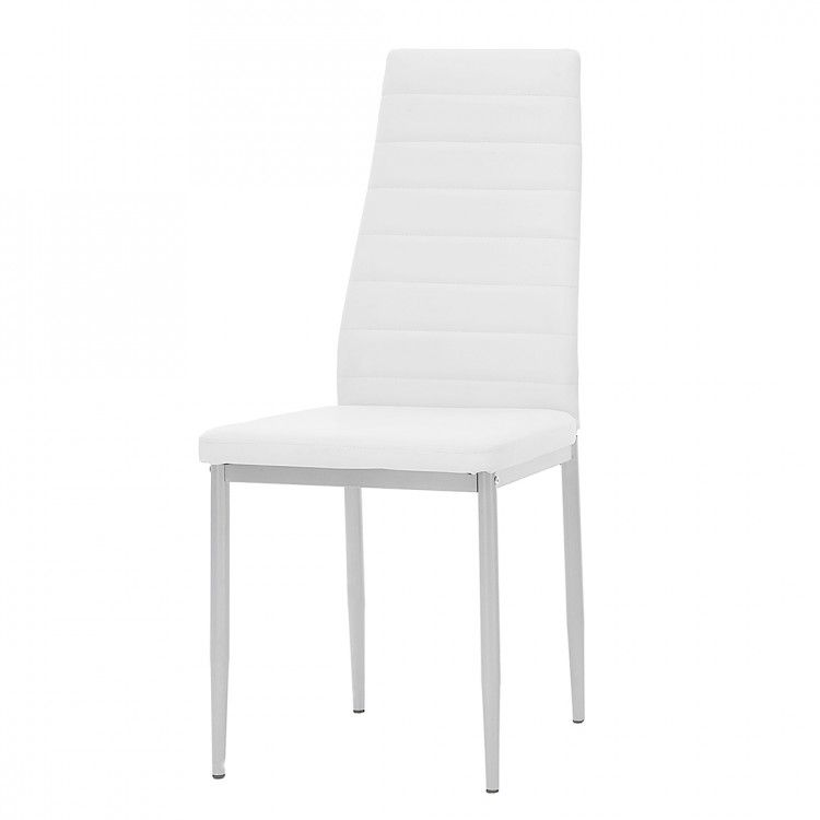 Fauteuil Alice Springs (lot de 4) - Cuir synthétique blanc, Home Design
