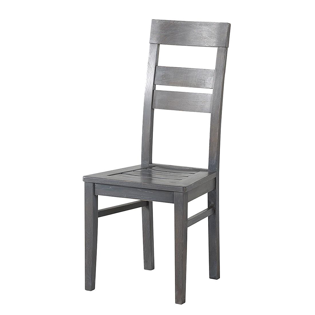 Sedia Sala Da Pranzo Titan (Set 2) Parzialmente In Legno Massello Di  #53575C 1100 1100 Misure Per Tavoli Da Pranzo