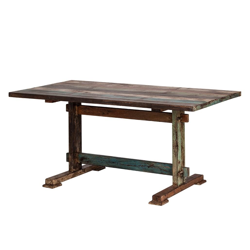 Table à manger India - Manguier massif, verni - 160 x 76 x 90 cm, Ars Natura