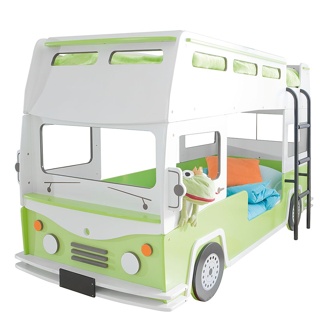 Lit superposé Bussy - Vert / Blanc, Kids Club Collection