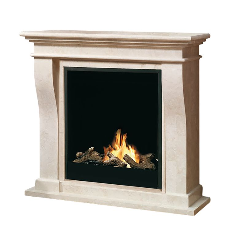 Home 24 - Cheminée éthanol kreta mini : gros insert - avec motif en pierre, ruby fires