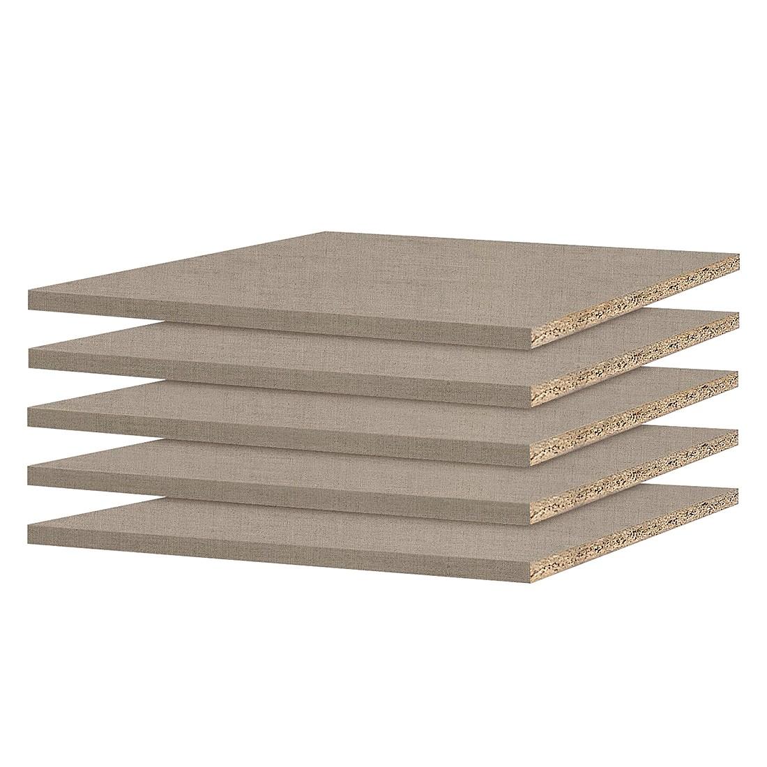 Home 24 - Tablette quadra 66 cm (lot de 5) - pour profondeur d armoire 62 cm, rauch packs