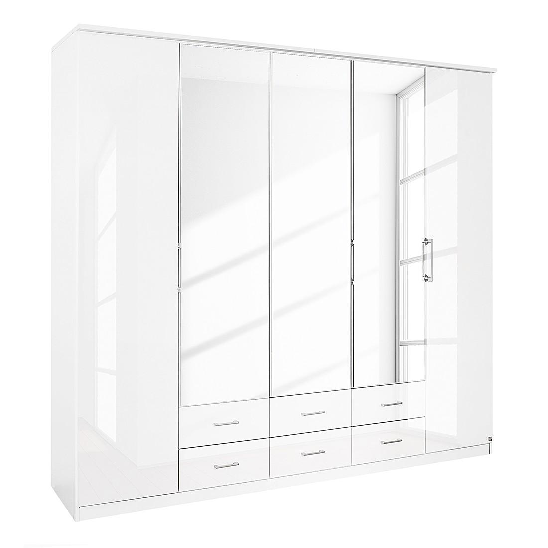 Armoire à portes pliantes Ellwangen - Blanc alpin / brillant 226 x 199 cm 5, Rauch Packs