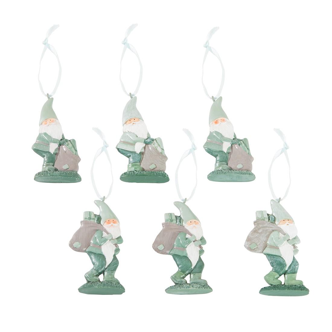 Hanger Felix - 6-delige set kunsthars groen 7cm, Home24 Deko