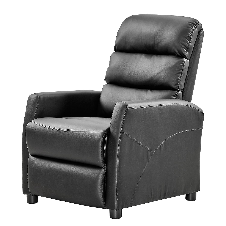 Fauteuil de relaxation Plush - Imitation cuir - Noir, Nuovoform