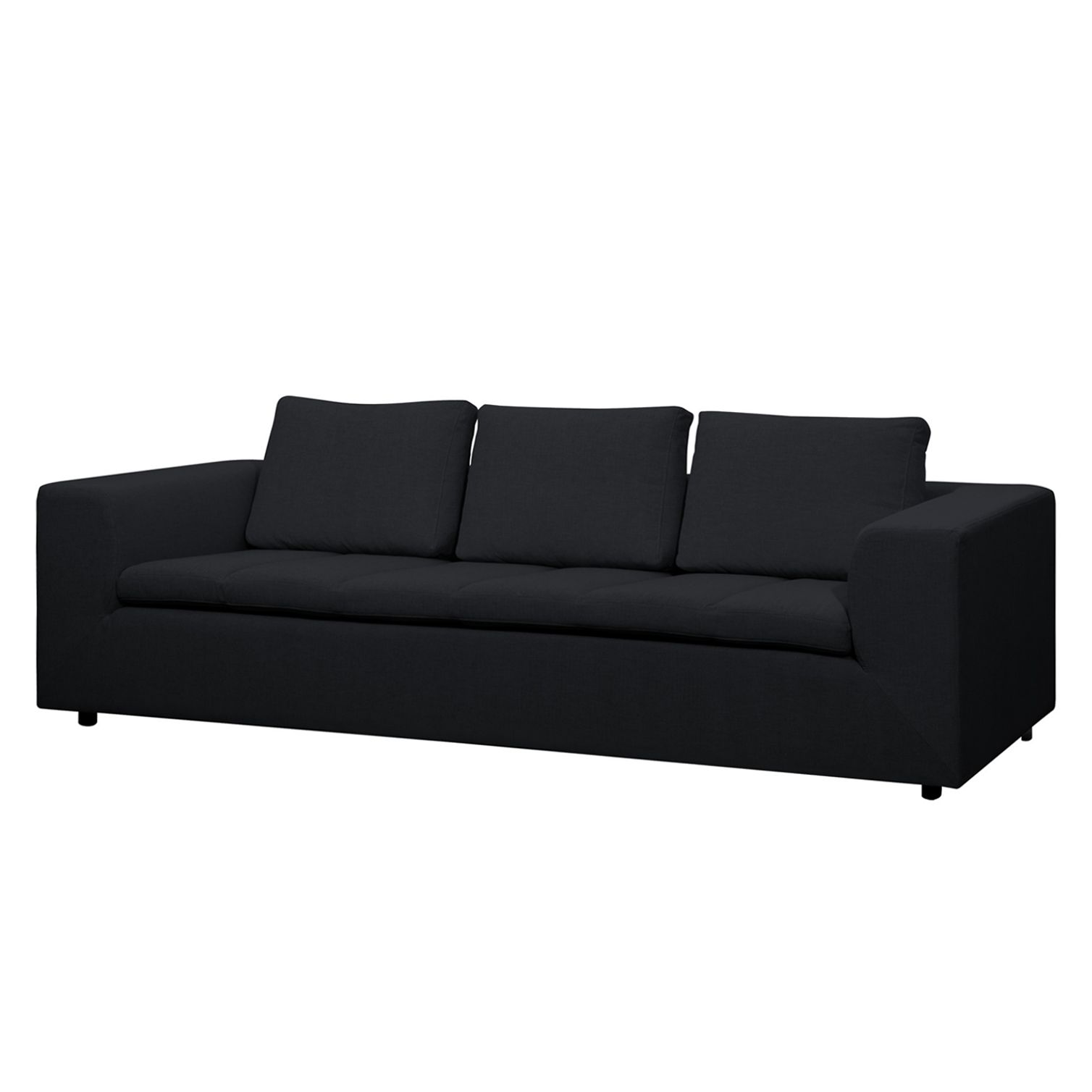 Sofa Brooklyn (3-Sitzer) Webstoff - Stoff Saia Anthrazit
