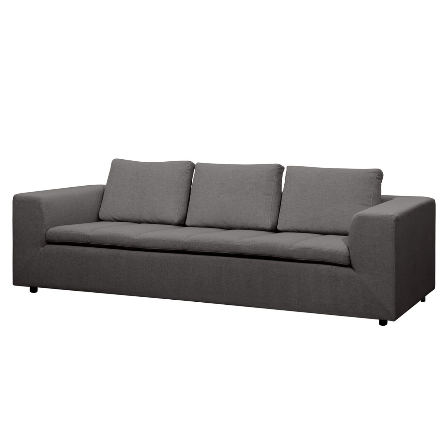 Sofa Brooklyn (3-Sitzer) Webstoff - Stoff Anda II Anthrazit