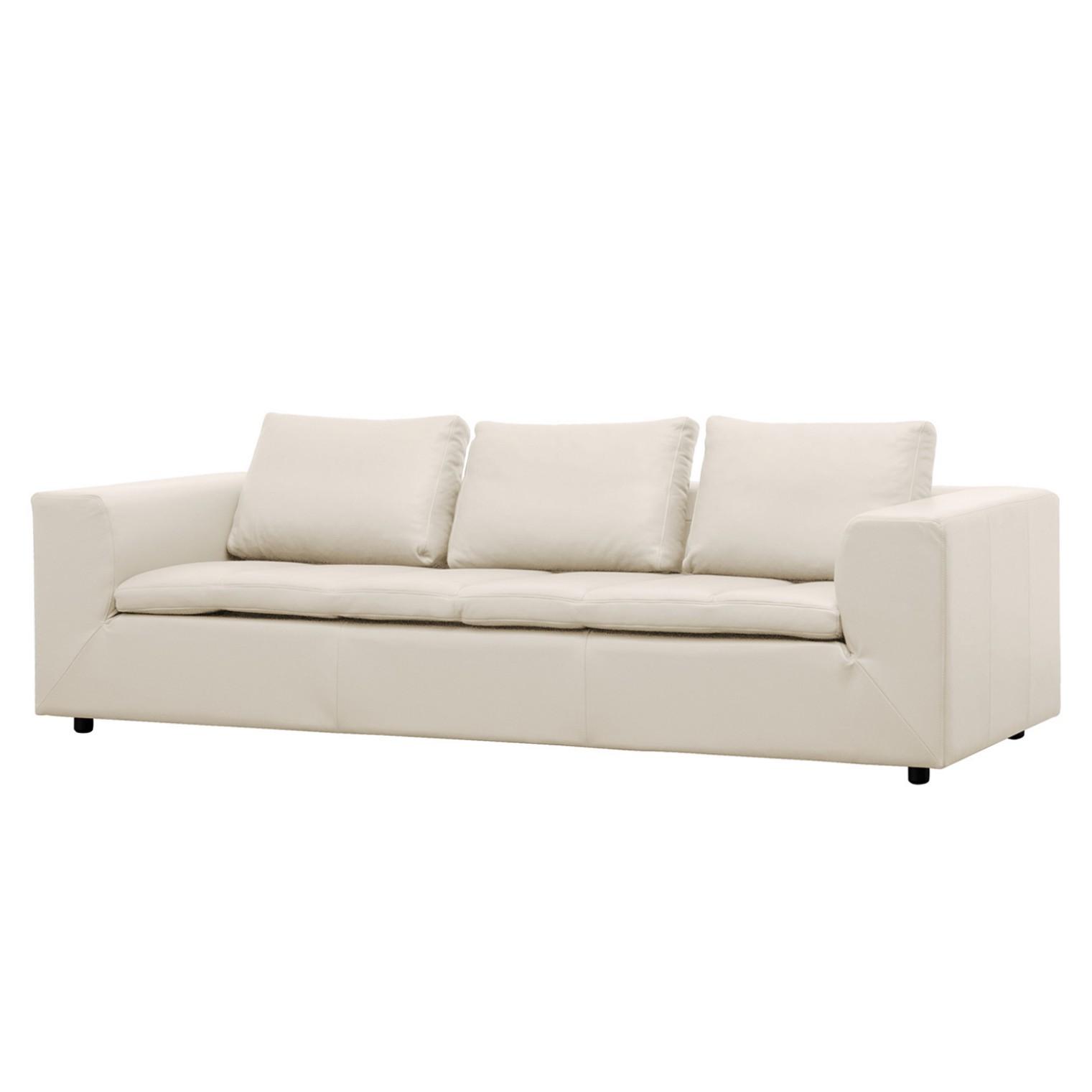 Sofa Brooklyn (3-Sitzer) Echtleder - Echtleder Neka Creme