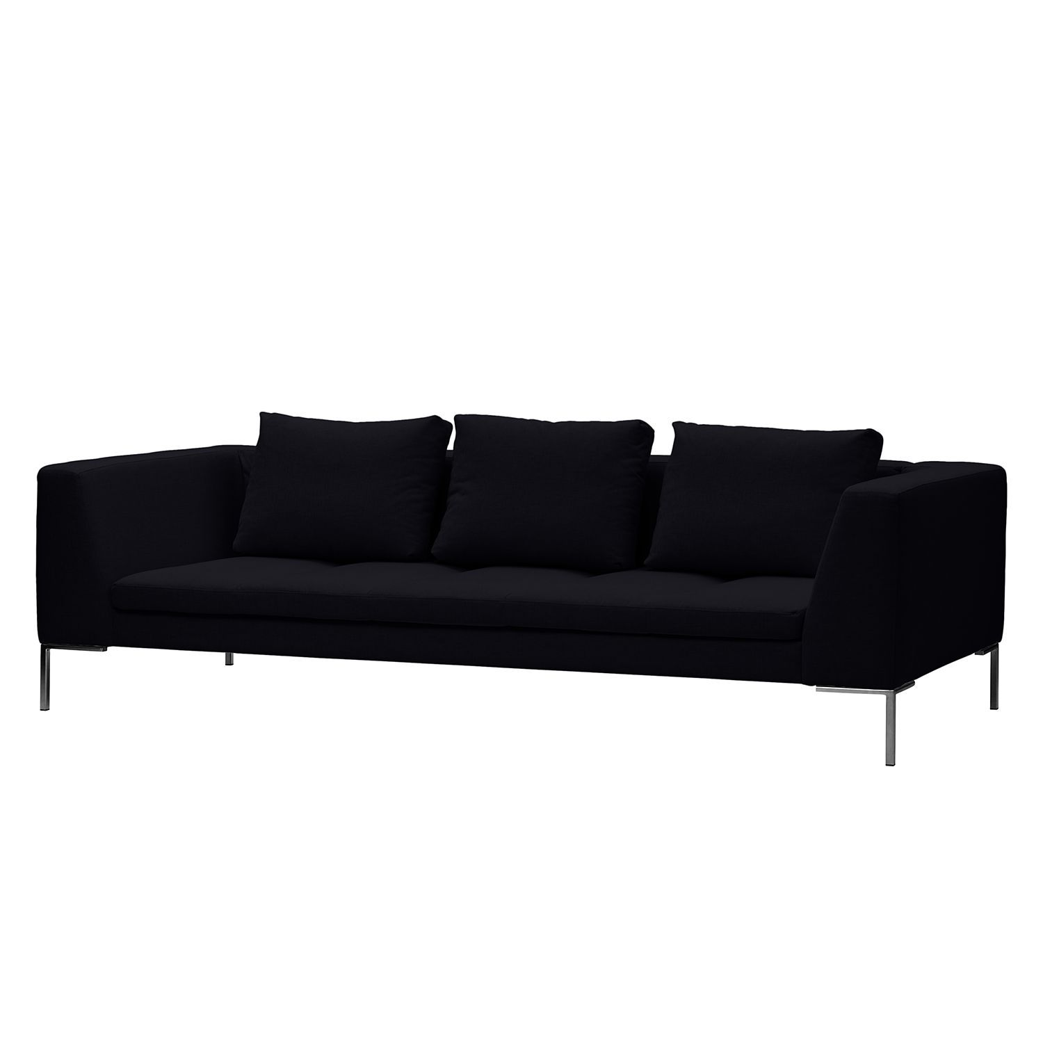 Sofa Madison (3-Sitzer) Webstoff - Stoff Saia Anthrazit