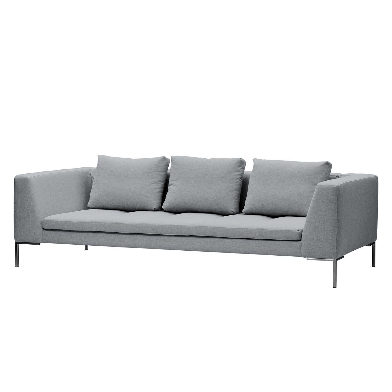Sofa Madison (3-Sitzer) Webstoff - Stoff Saia Hellgrau