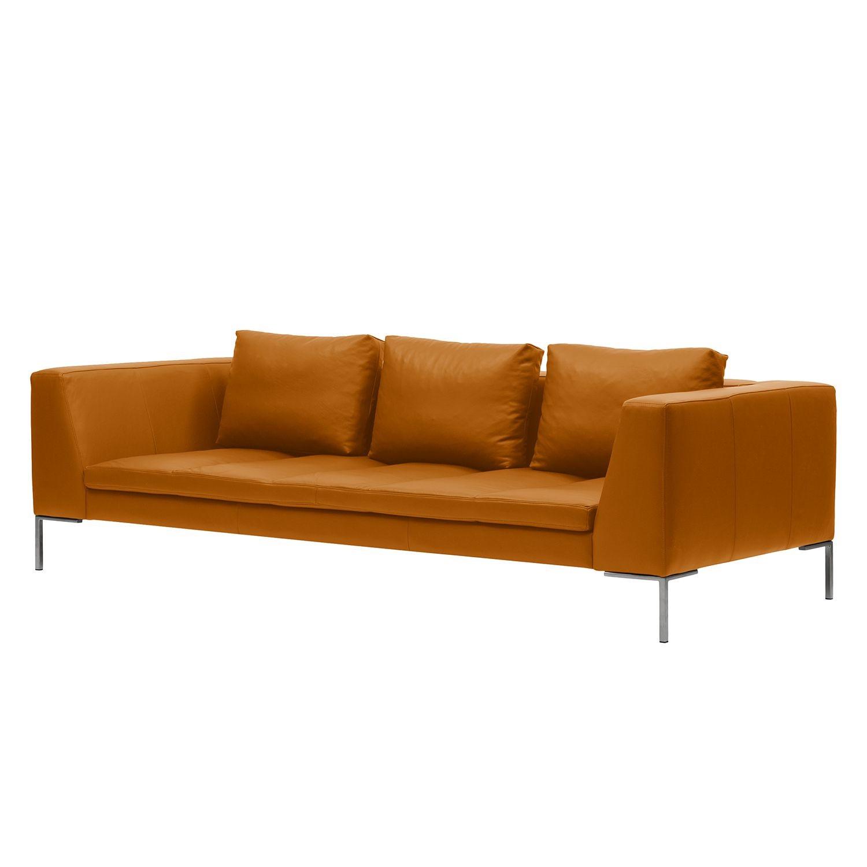 Sofa Madison (3-Sitzer) Echtleder - Echtleder Neka Cognac