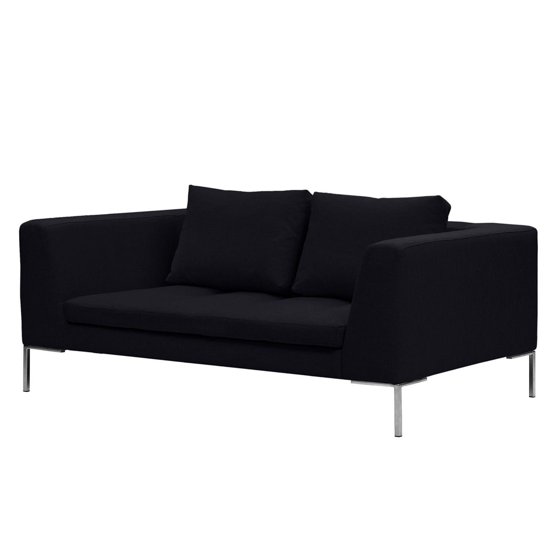 Sofa Madison (2-Sitzer) Webstoff - Stoff Saia Anthrazit