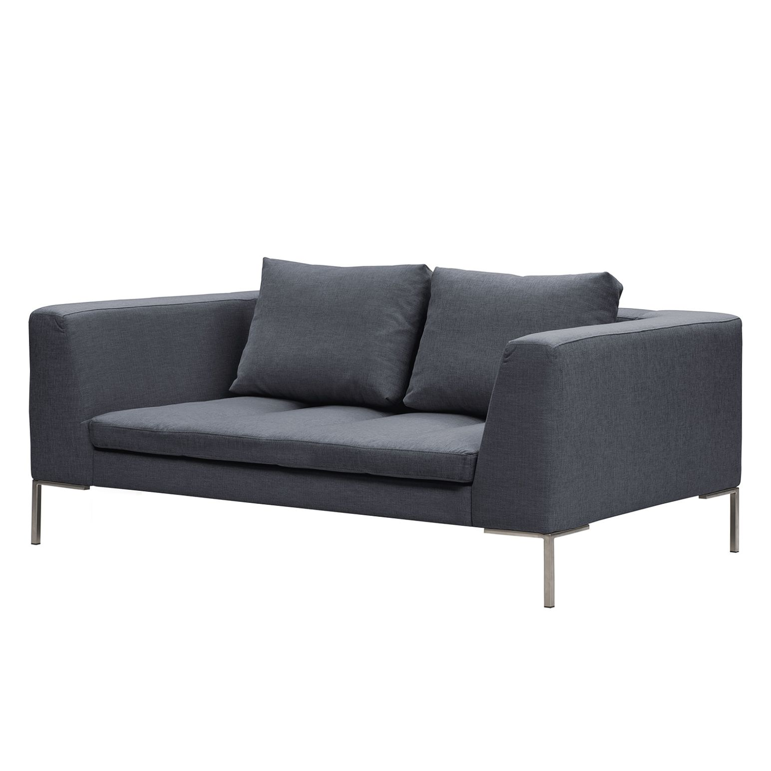Sofa Madison (2-Sitzer) Webstoff - Stoff Milan Anthrazit