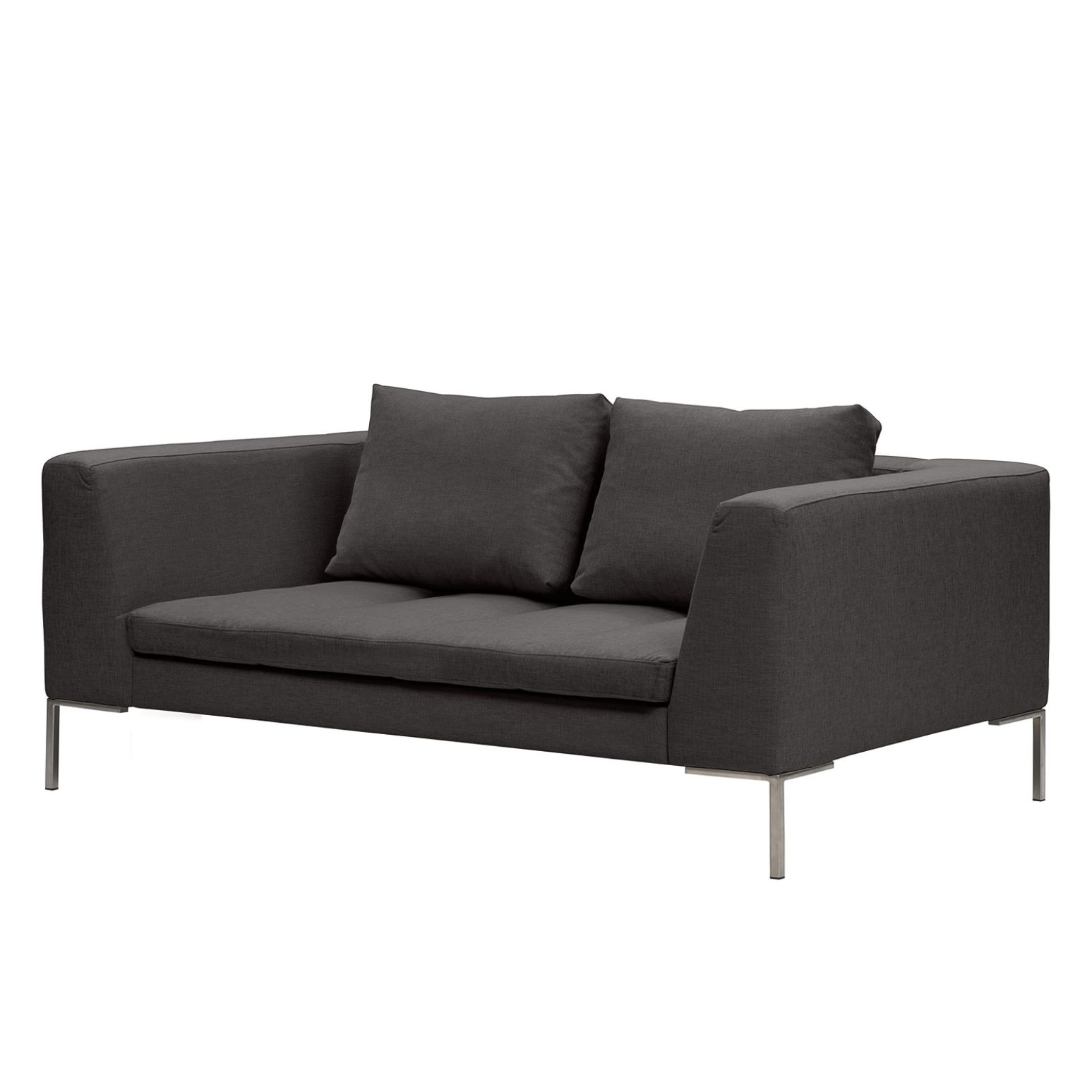 Sofa Madison (2-Sitzer) Webstoff - Stoff Anda II Anthrazit