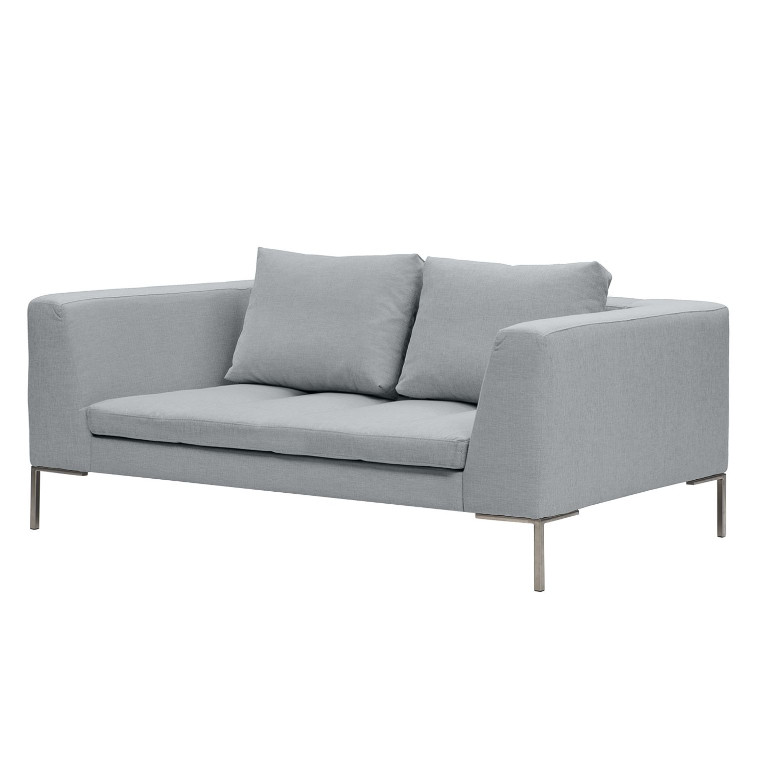 Sofa Madison (2-Sitzer) Webstoff - Stoff Anda II Silber