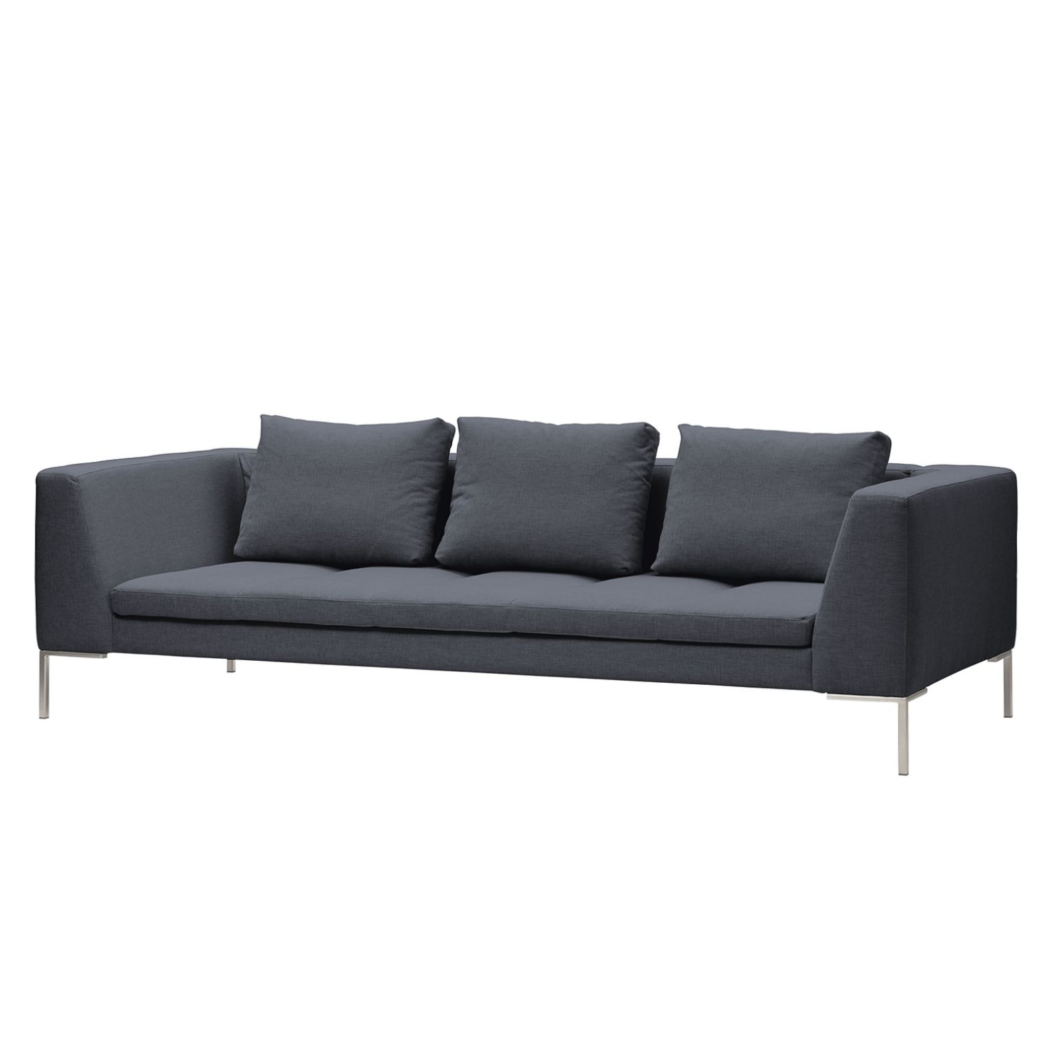 Sofa Madison (3-Sitzer) - Webstoff - Stoff Milan Anthrazit