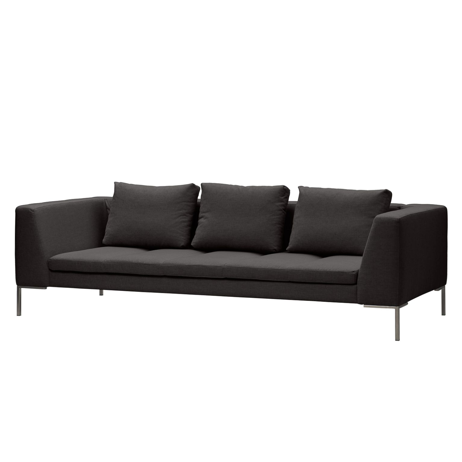 Sofa Madison (3-Sitzer) Webstoff - Stoff Anda II Anthrazit