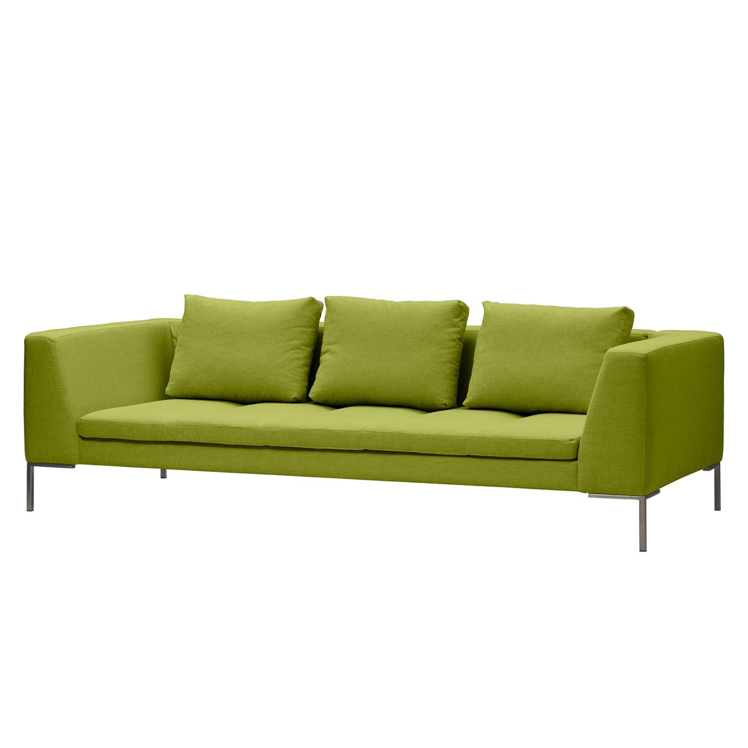 Sofa Madison (3-Sitzer) Webstoff - Stoff Anda II Grün