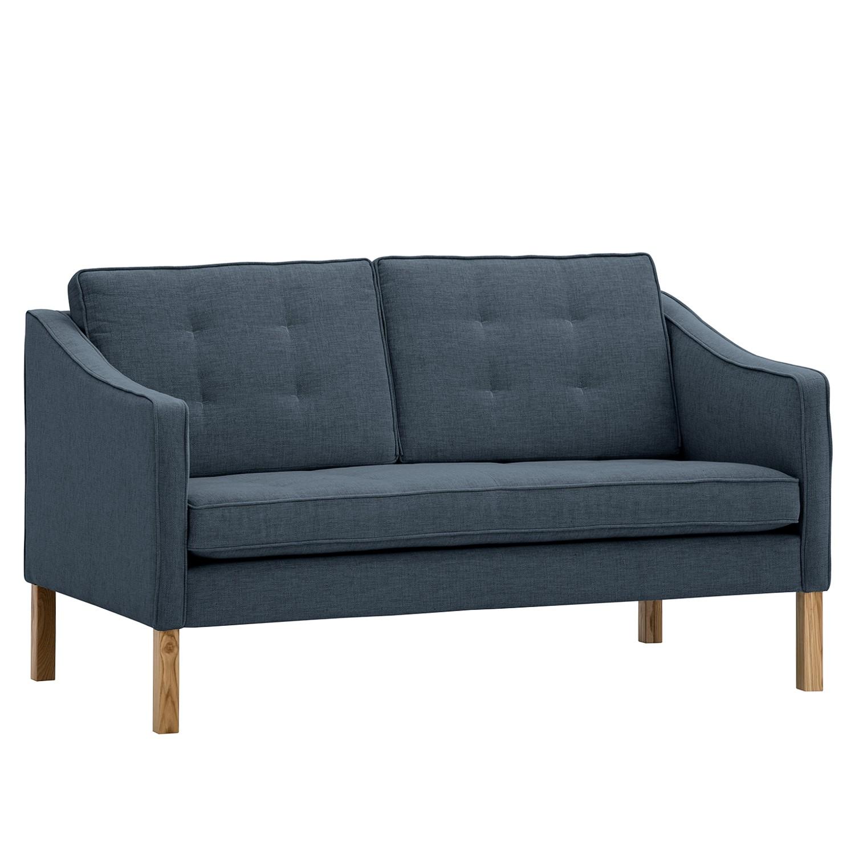 Sofa Risor (2-Sitzer) - Webstoff - Stoff Anda II Grau