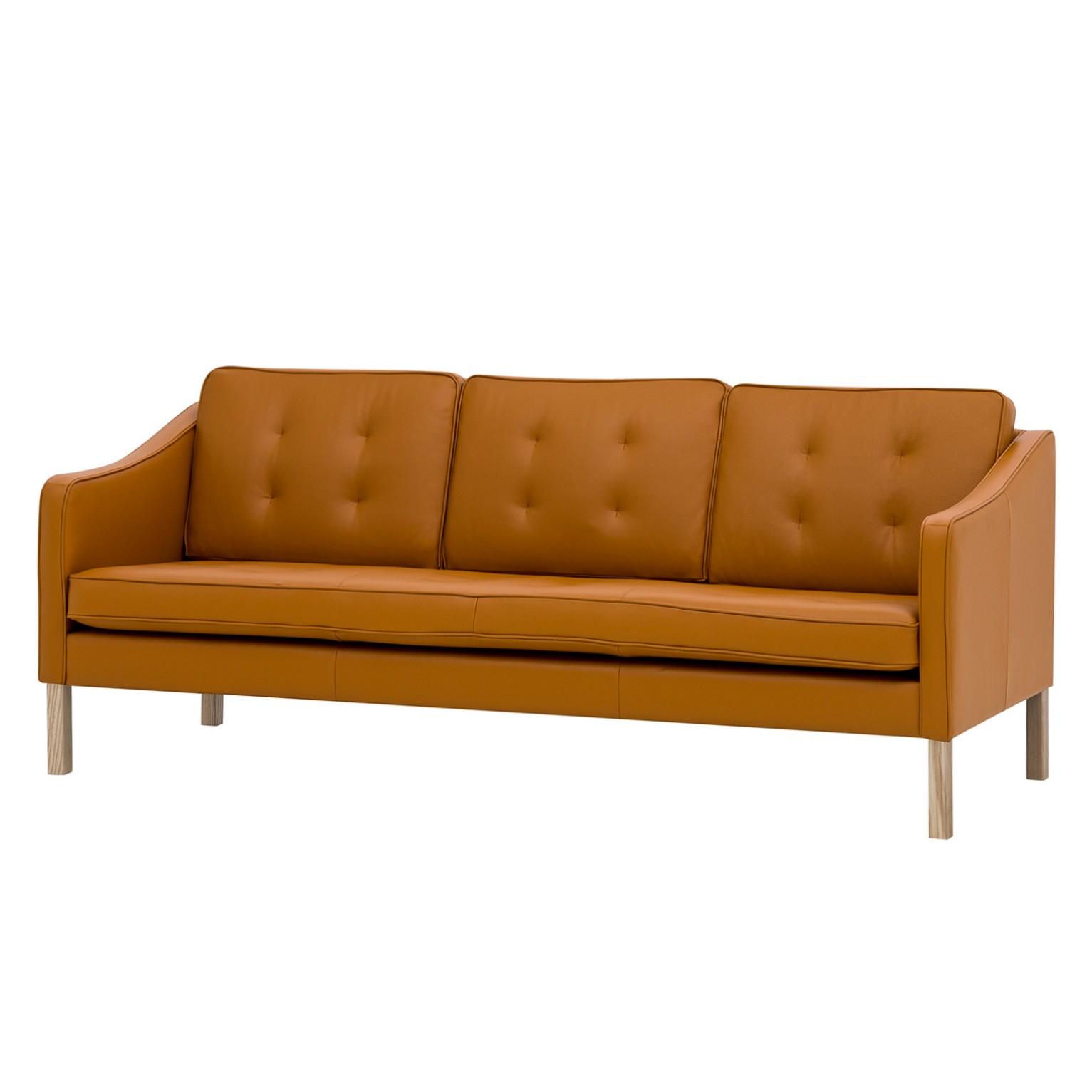 Sofa Risor (3-Sitzer) Echtleder - Echtleder Neka Cognac