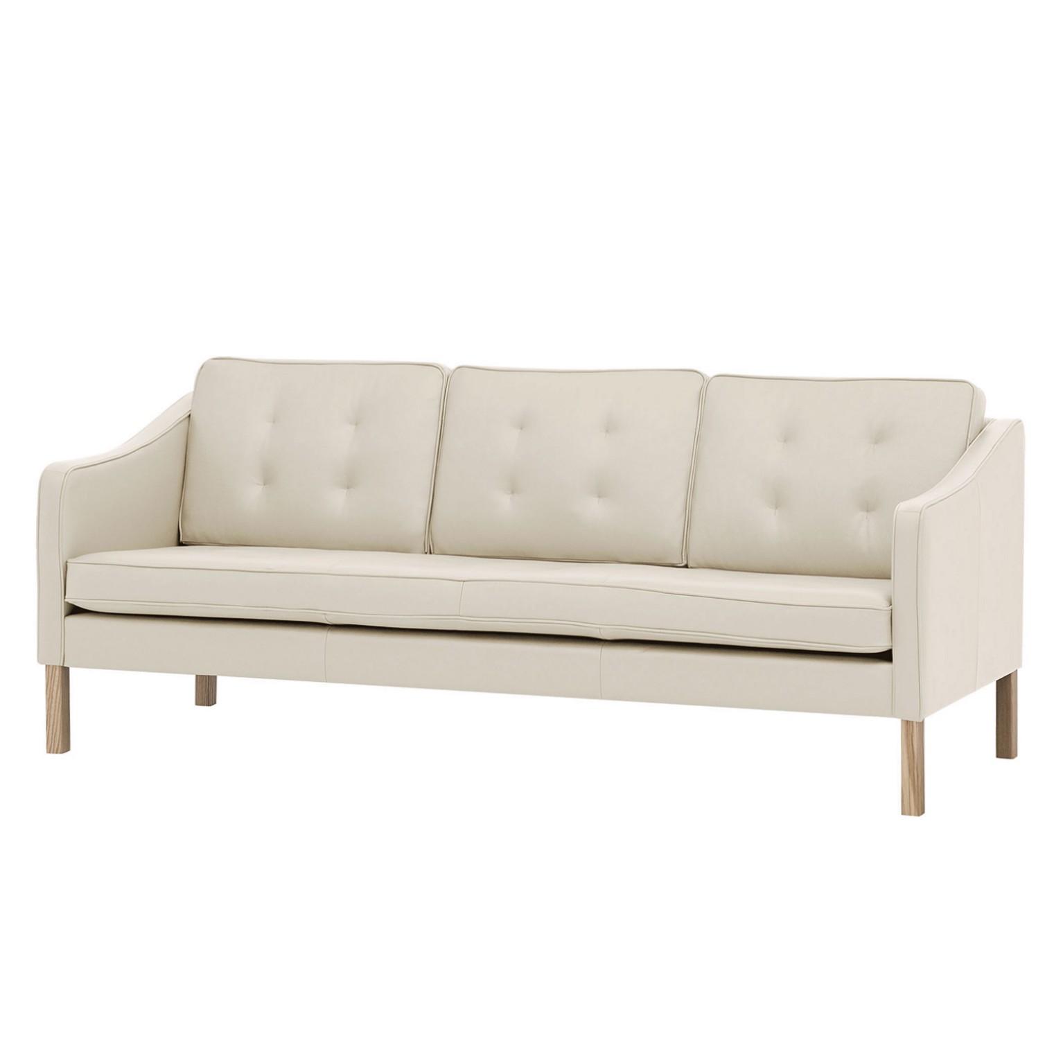 Sofa Risor (3-Sitzer) - Echtleder - Echtleder Neka Creme