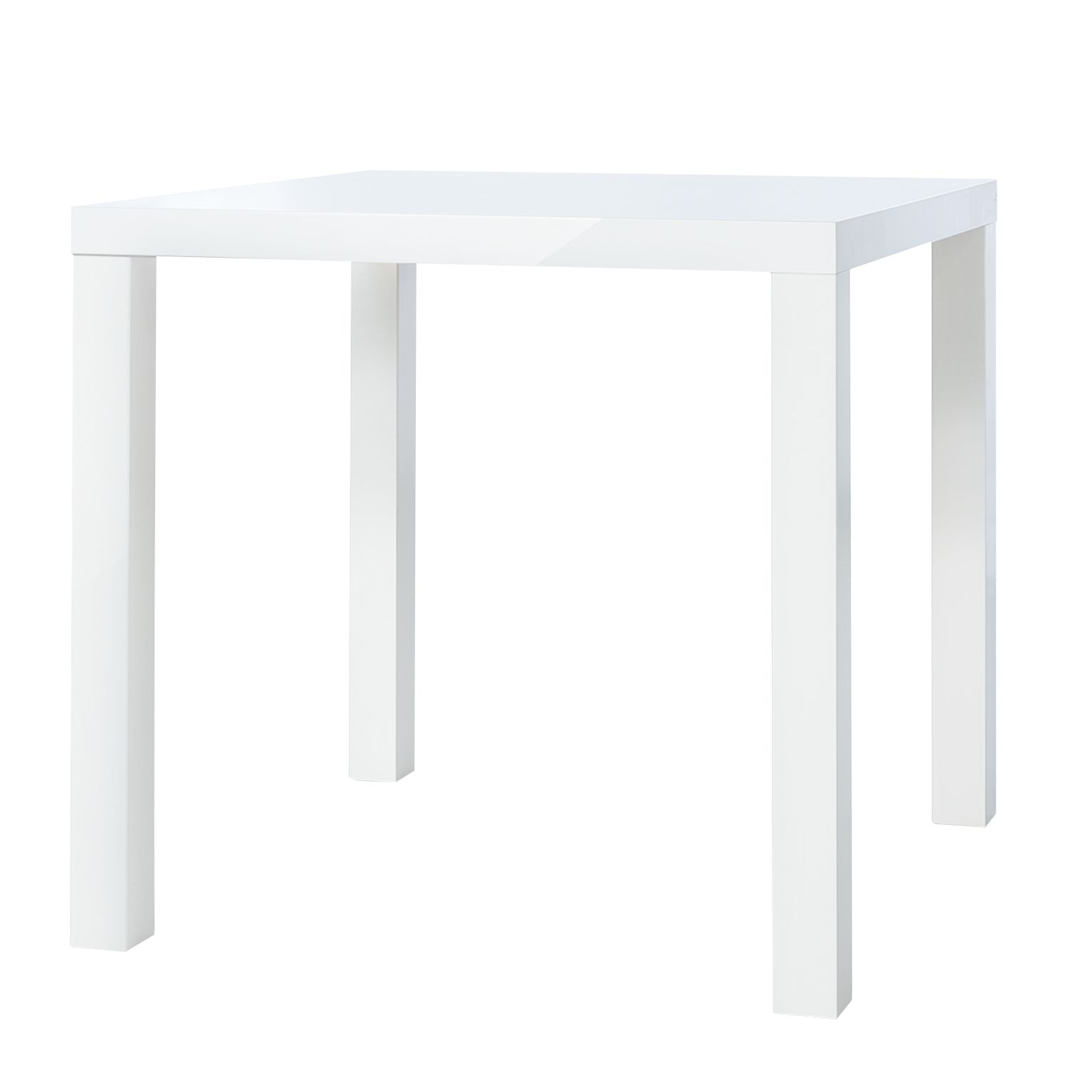 Table à manger Pamati - Blanc brillant - 80 x 80 cm, mooved