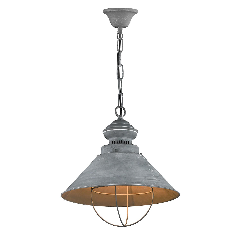 EEK A++, Pendelleuchte Basket - Metall - 1-flammig, Honsel