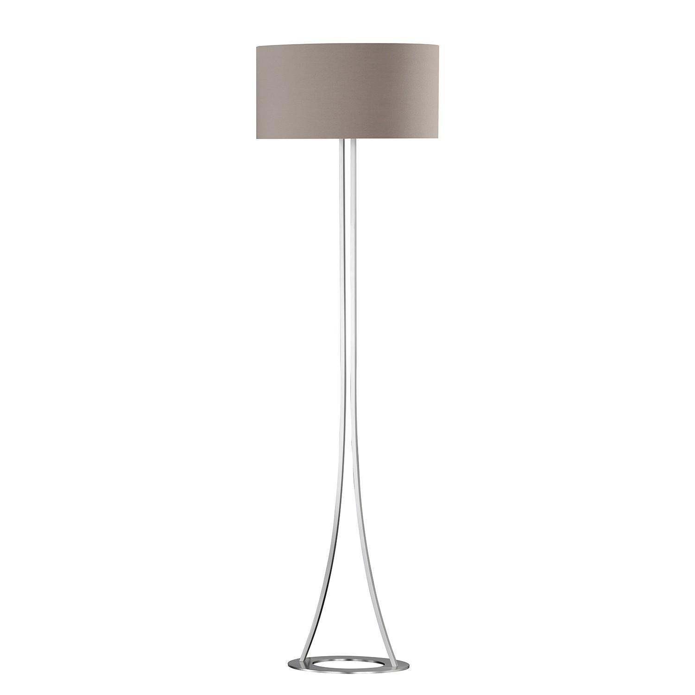 EEK A++, Lampadaire Mira - Tissu / Fer - 2 ampoules, Honsel Leuchten