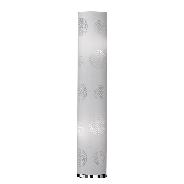energie  A++, Staande lamp Joona - geweven stof/ijzer - 2 lichtbronnen - Lichtgrijs, Honsel Leuchten