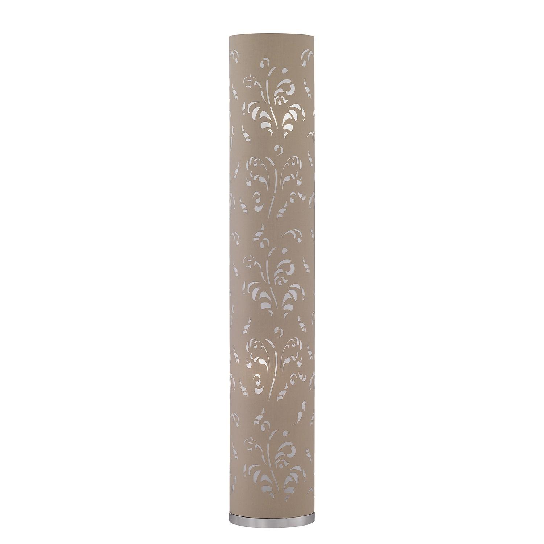 EEK A++, Lampadaire Flora II - Tissu / Fer - 2 ampoules - Cappuccino / Chrome, Honsel
