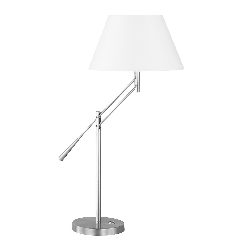 EEK A++, Lampe de table Lever II - Tissu / Fer - 1 ampoule, Honsel