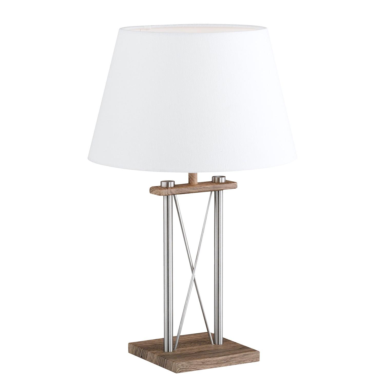 EEK A++, Lampe de table Xiamen II - Tissu / Fer - 1 ampoule, Honsel Leuchten