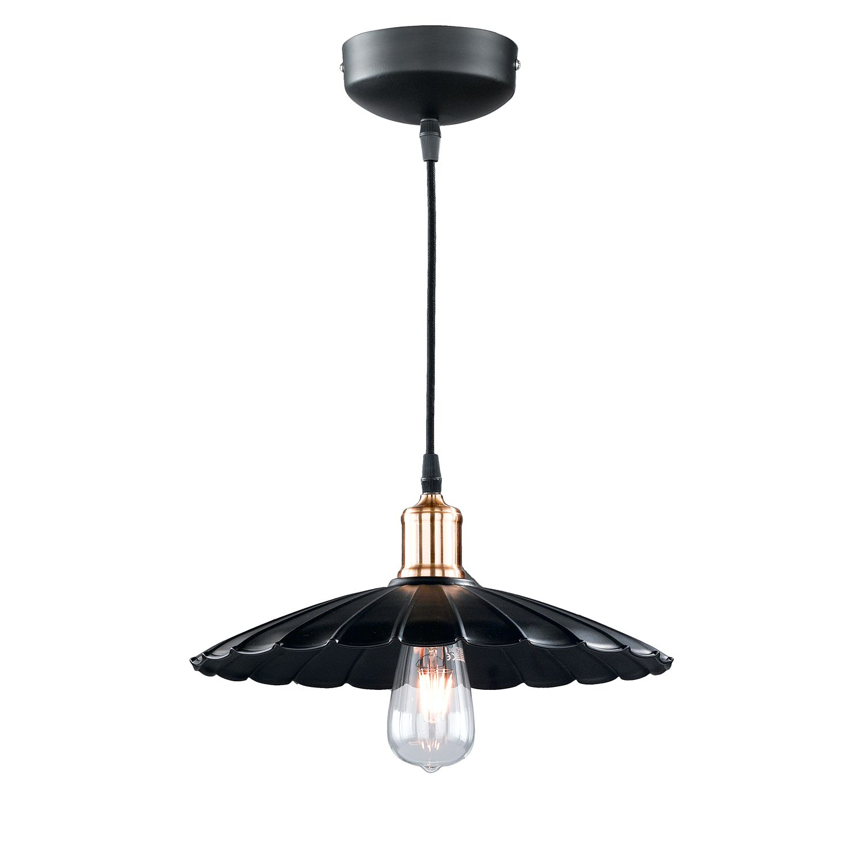 energie  A++, Hanglamp Schirm - ijzer - 1 lichtbron - 35, Honsel Leuchten