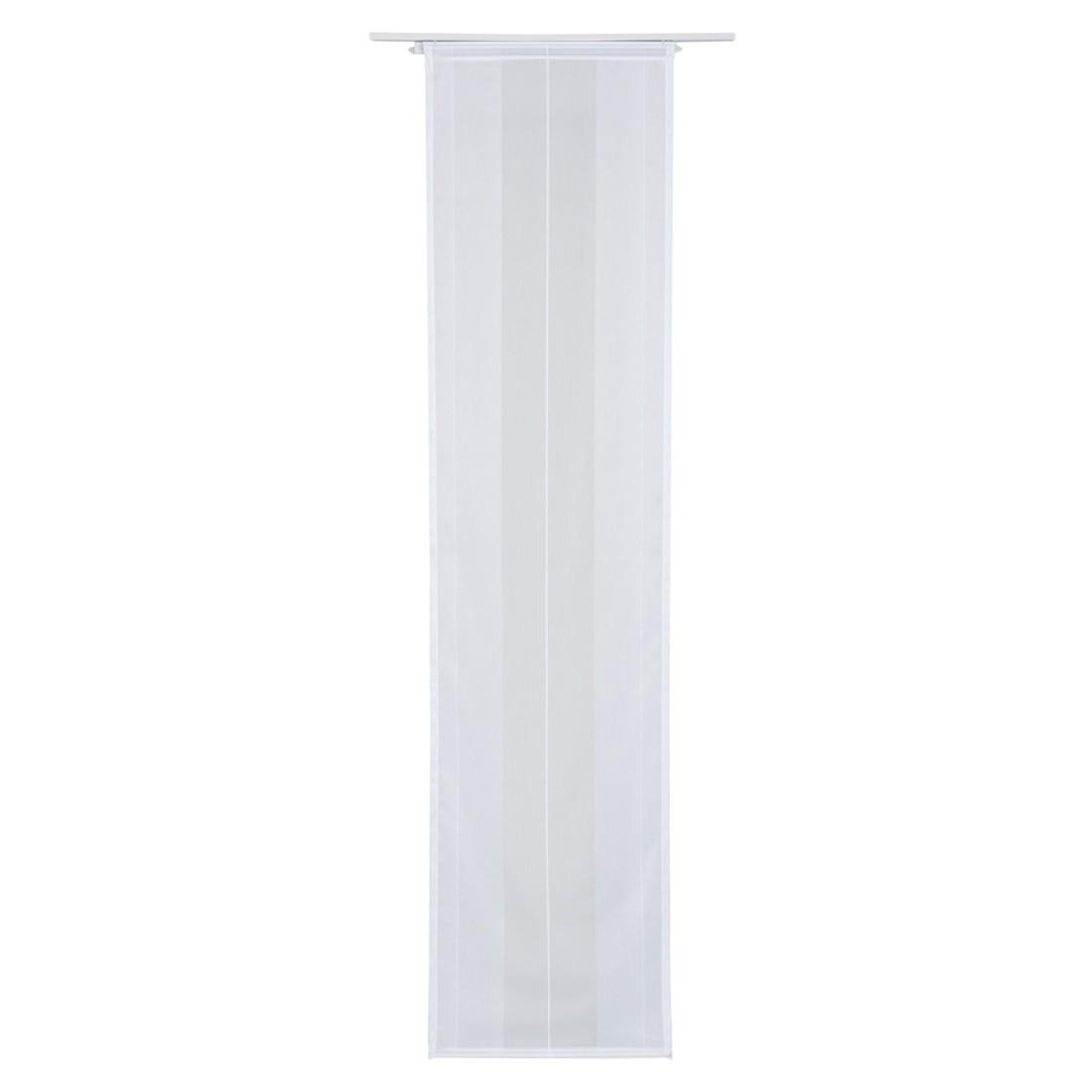 panneau japonais tamisant blanc barre bois clair prix et. Black Bedroom Furniture Sets. Home Design Ideas