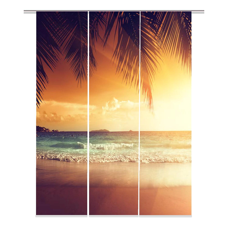 Schiebevorhang Tropico (3er-Set) - Webstoff - Mehrfarbig, Fredriks