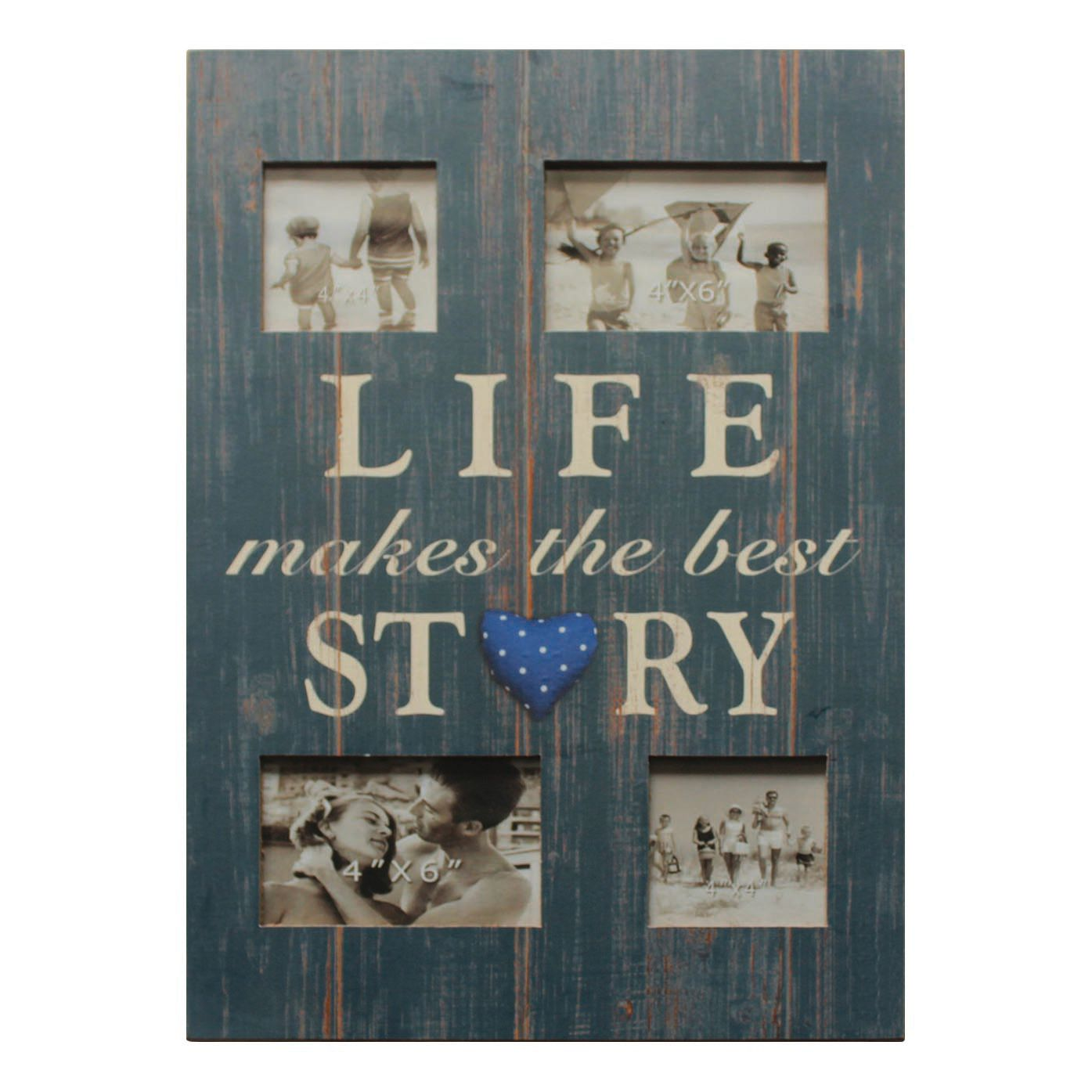 Home 24 - Cadre photo life makes the best story - bleu, my flair