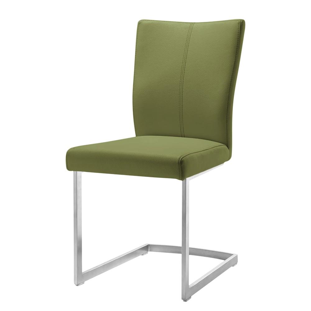Home 24 - Chaise cantilever lenneke iv - imitation cuir - vert olive, habufa