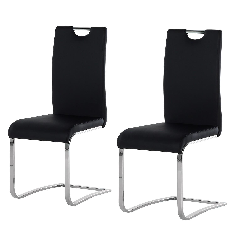 Sledestoelen Nevia (2-delige set) - zwart kunstleer, Fredriks