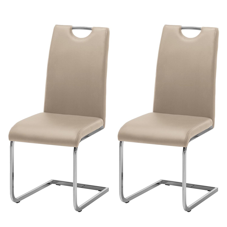 Home 24 - Chaise cantilever pasala (lot de 2) - imitation cuir - cappuccino, roomscape